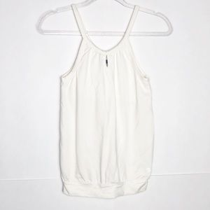 EUC Lija white athletic tank with built in bra